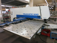 Machine equipment punching Trumpf Trumatic 500 Rotation