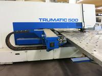 Machine equipment punching Trumpf Trumatic 500 Rotation thickness of sheets working process