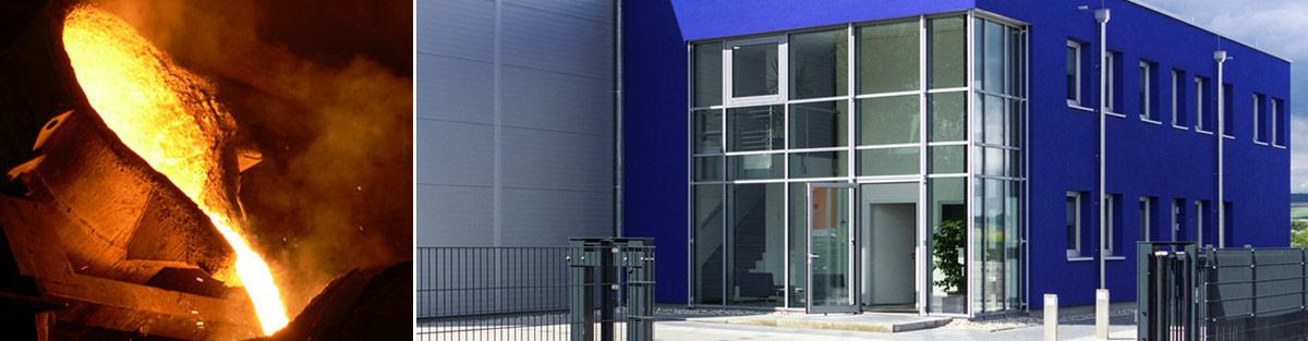 Gusstechnik und Büro mit Logistikzentrum
