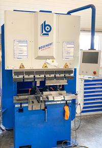 Maschienenpark Umformen/Börteln Boschert Profi 28 CNC Presskraft